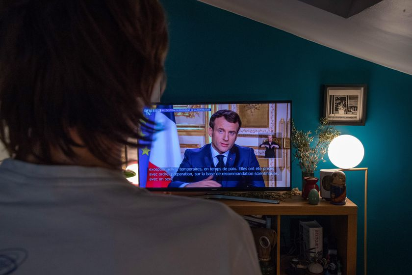 Macron speech on TV regarding Coronavirus