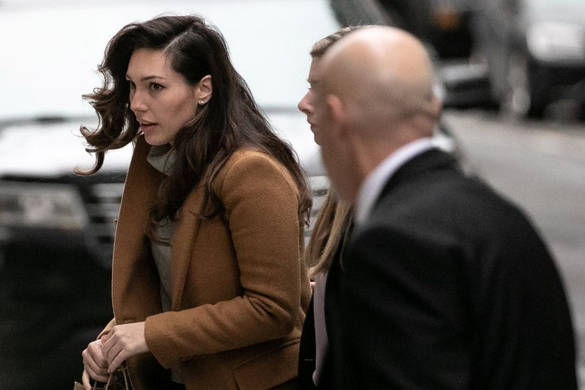 Witness Jessica Mann arrives at the Manhattan Criminal Court to testify in the trial of Harvey Weinstein in New York