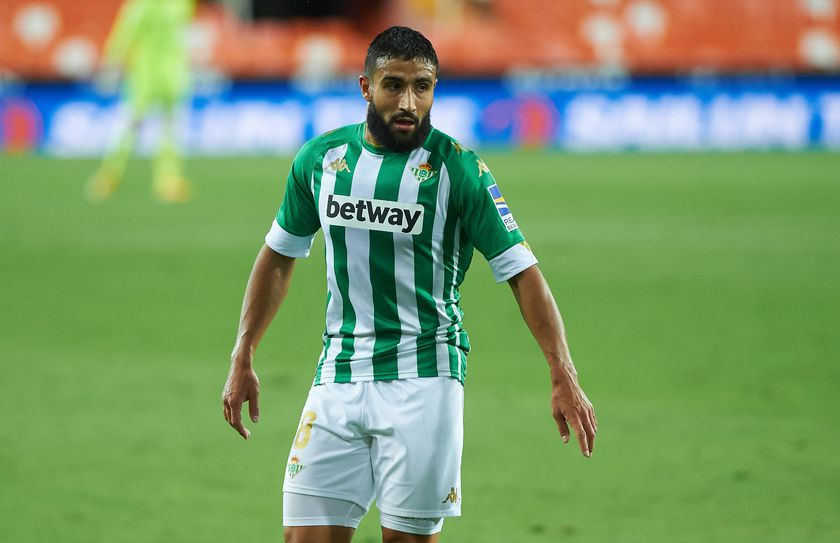 Nabil Fekir of Real Betis during the La Liga Santander mach between Valencia and Real Betis at Estadio de Mestalla, on October 3, 2020 in Valencia Spain