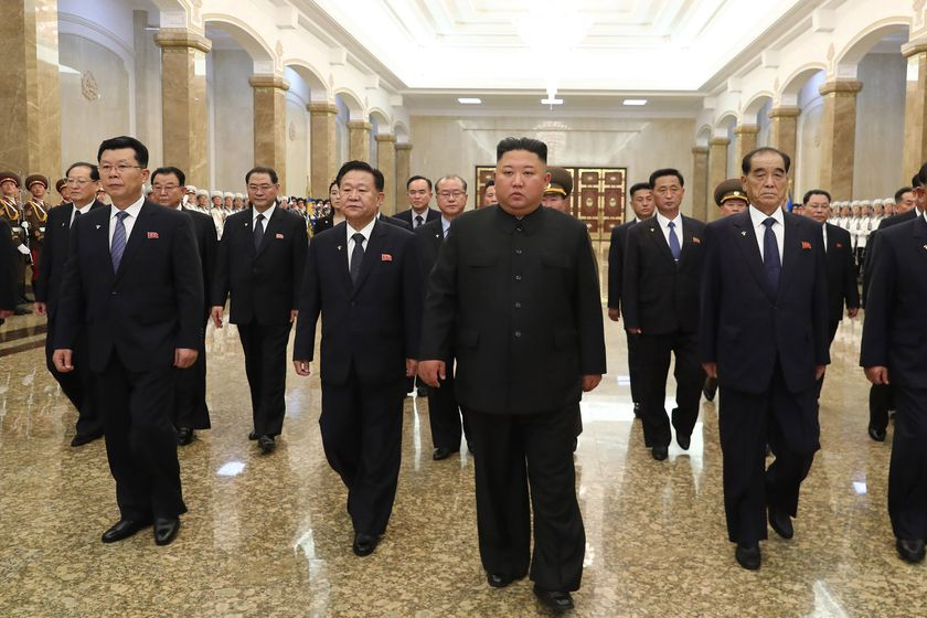 North Korean Leader pays tribute to late grandfather