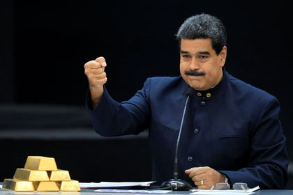 FILE PHOTO: Venezuela's President Maduro speaks during a meeting with the ministers responsible for the economic sector in Caracas