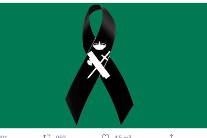 Logo en honor del coronel fallecido en el twitter de la Guardia Civil