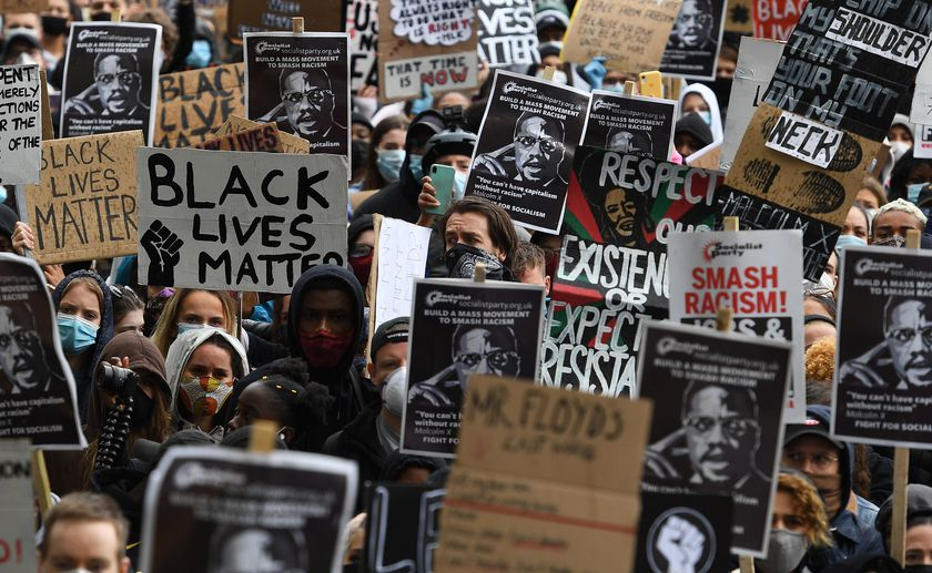 Black Lives Matter protest in London in wake of George Floyd's death