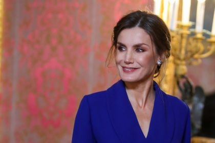 Queen Letizia Ortiz  during the Military Easter 2020 at RoyalPalace in Madrid on Monday 6th January 2020.