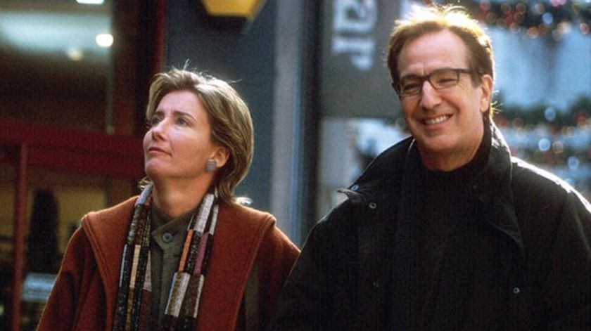 "Emma Thompson y Alan Rickman, en ""Love Actually"""