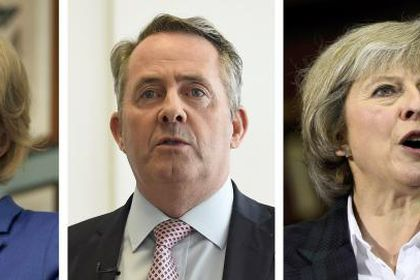 Stephen Crabb, Andrea Leadsom, Liam Fox, Theresa May and Michael Gove