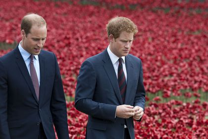 Los príncipes Harry y William