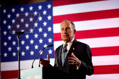 FILE PHOTO: Democratic presidential candidate Michael Bloomberg attend a campaign event in Chattanooga