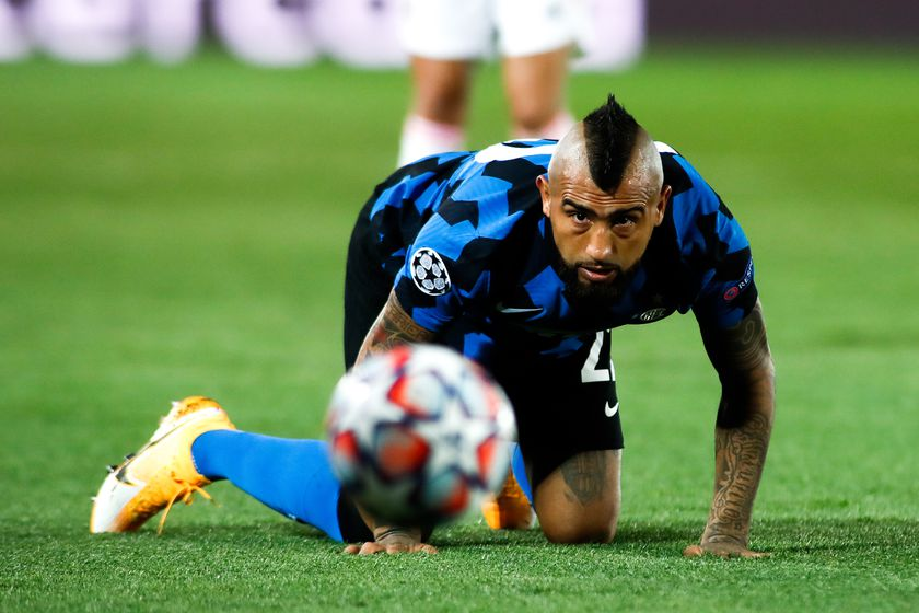 Arturo Vidal of Inter in action during the UEFA Champions League, Group B, football match played between Real Madrid and FC Internazionale Milano at Alfredo Di Stefano stadium on November 03, 2020, in Valdebebas, Madrid, Spain.