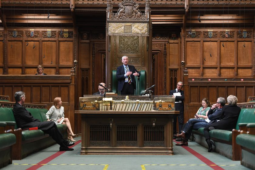 Preparations of House of Commons Chamber