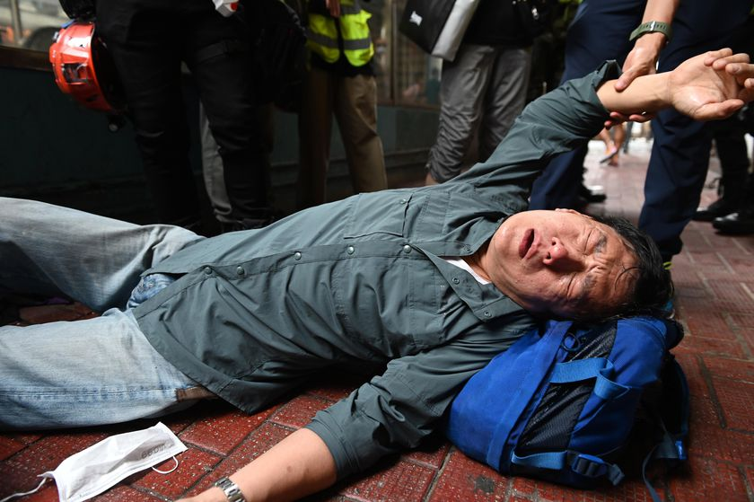 Hong Kong national security law protest