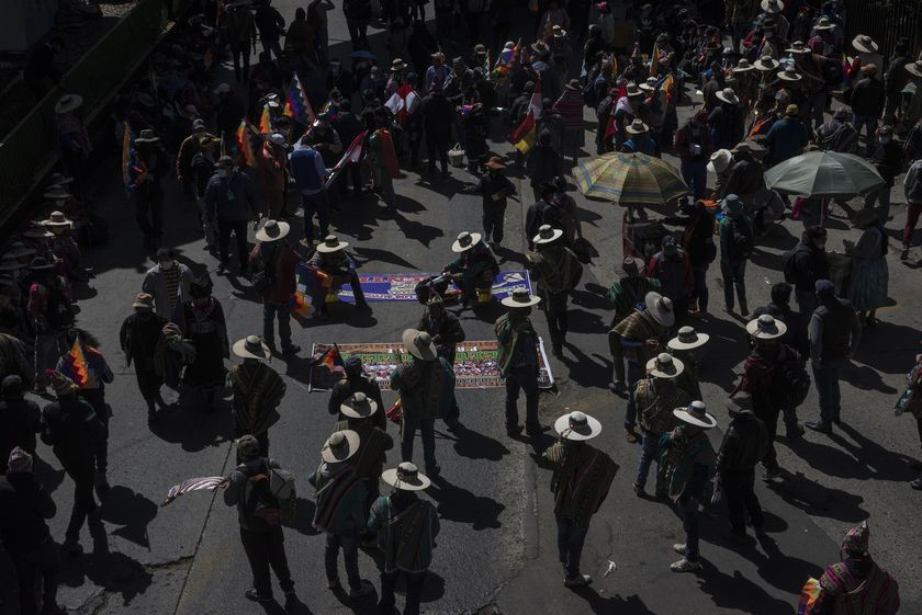 Protest against general election postponement in Bolivia