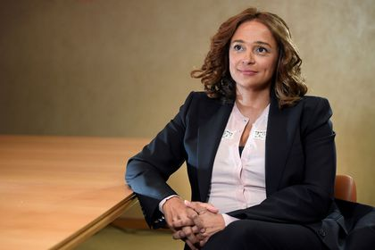 FILE PHOTO: Isabel Dos Santos, daughter of Angola?s former President and Africa's richest woman, sits for a portrait during a Reuters interview in London, Britain