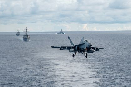 US Navy drills in South China Sea