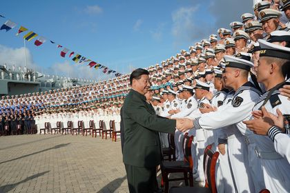 Commissioning ceremony for China's first domestically built aircraft carrier