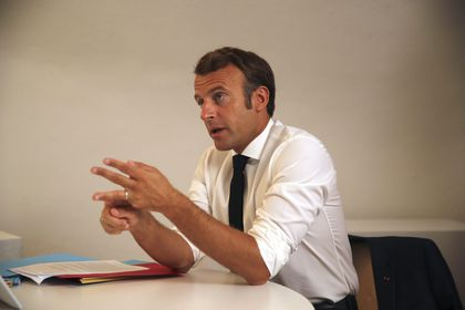 French President Emmanuel Macron attends defense council over seven aid workers killed in Niger