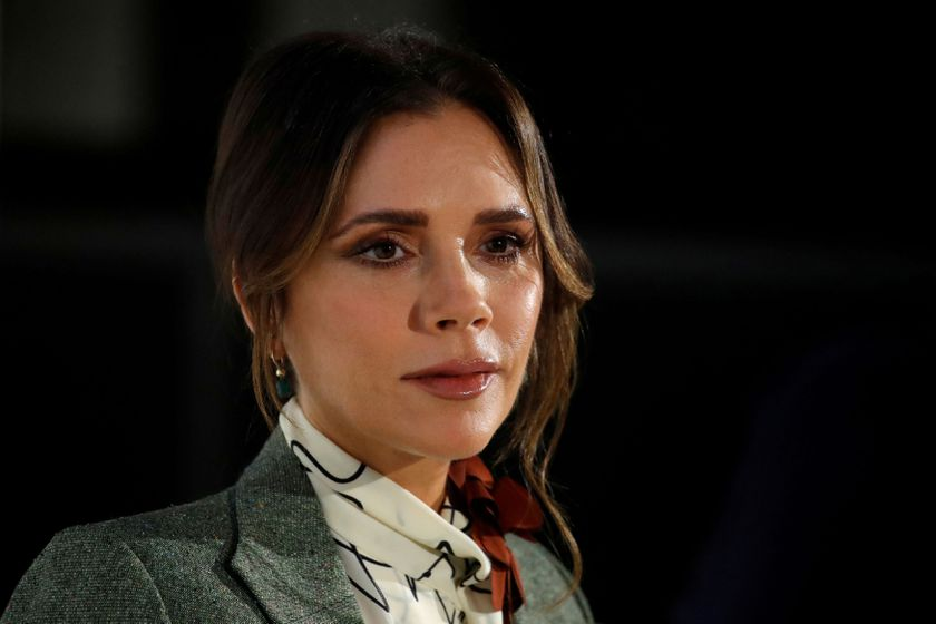 FILE PHOTO: Designer Victoria Beckham attends the 4th edition of the Vogue Fashion Festival in Paris, France, November 15, 2019. REUTERS/Gonzalo Fuentes/File Photo