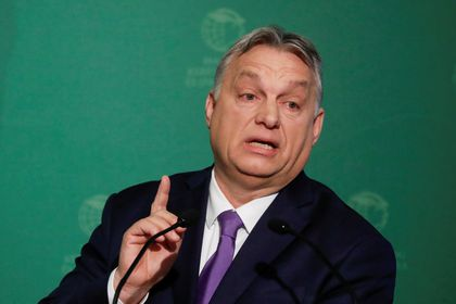 Hungary's PM Orban takes part in an annual business conference in Budapest