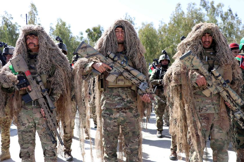 Afghan army soldiers mark Soldier's Day in Kandahar