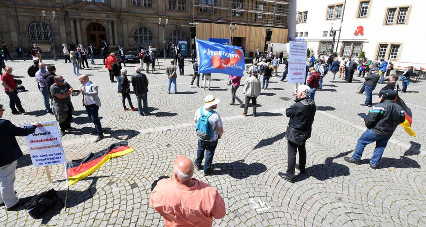 AfD Protest against the Coronavirus restrictions