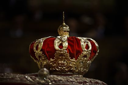 Spain's King's Crown is seen during the swearing-in ceremony of Spain's King Felipe VI at the Spanish Parliament, on Thursday, June 19, 2014. Felipe is being formally proclaimed monarch Thursday after 76-year-old King Juan Carlos abdicated so that younger royal blood can rally a country beset by economic problems, including an unemployment rate of 25 percent. Felipe was to swear an oath at a ceremony with lawmakers in Parliament in front of Spain's 18th-century crown and 17th-century scepter. (AP Photo/Daniel Ochoa de Olza)