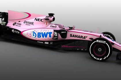El nuevo Force India de color rosa