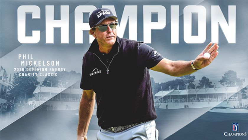Triunfo Phil Mickelson en el Dominion Energy Charity Classic.