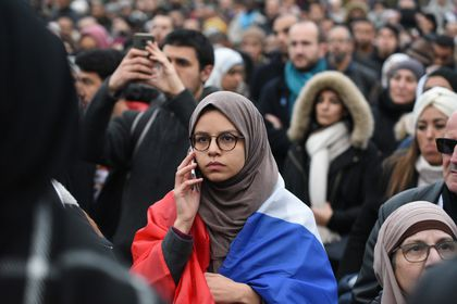 French Muslims protest against Islamophobia