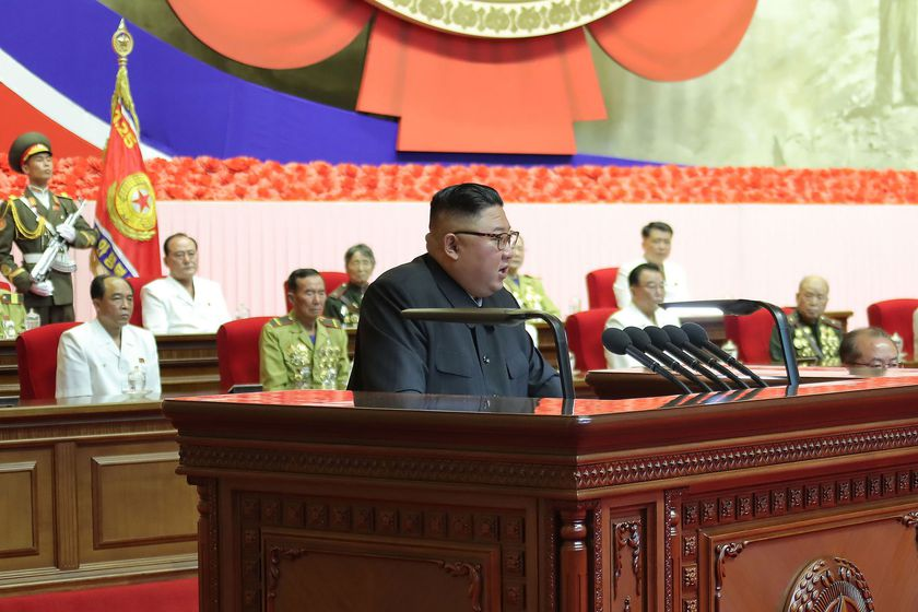 National conference of war veterans in North Korea
