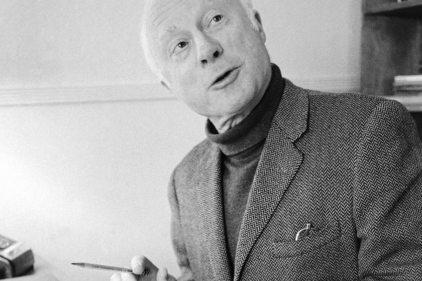 "FILE - Norman Lloyd, executive producer of Hollywood Theater, a series of high-class dramatic shows seen on affiliated stations on the Public Broadcasting Service, poses for a photo on Dec. 26, 1974, in Los Angeles. Lloyd, the distinguished stage and screen actor known for his role as a kindly doctor on TV's ""St. Elsewhere,"" has died at 106. Manager Marion Rosenberg said the actor died Tuesday, May 11, 2021, at his home in the Brentwood neighborhood of Los Angeles.  (AP Photo/George Brich, File)"