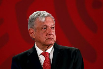 FILE PHOTO: Mexico's President Obrador holds a news conference in Mexico City