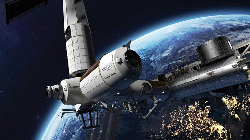 Pictured is a rendering of the commercial space station being built by Axiom Space.