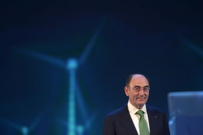 FILE PHOTO: Ignacio Sanchez Galan, chairman of Spanish power company Iberdrola, reacts during a speech during the annual general meeting of shareholders in Bilbao April 8, 2016. REUTERS/Vincent West/File Photo
