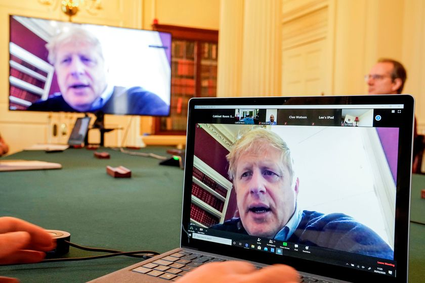 Britain's PM Johnson chairs COVID-19 meeting in London