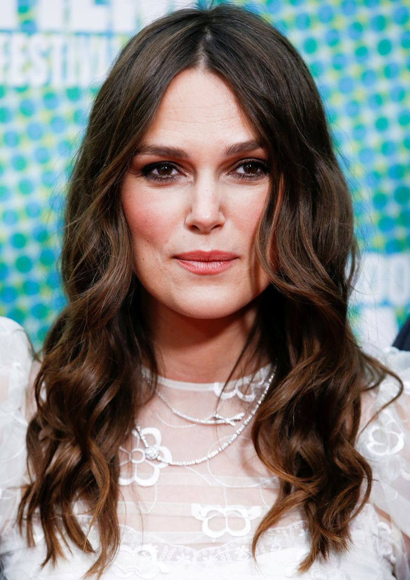"FILE PHOTO: Actor Keira Knightley poses as she attends the European premiere of ""Official Secrets"" at the BFI London Film Festival 2019, in London, Britain, October 10, 2019. REUTERS/Henry Nicholls/File Photo"