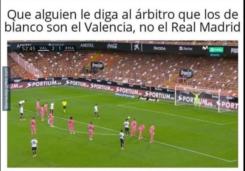 Meme Valencia-Real Madrid