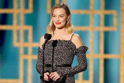 Margot Robbie in this handout photo from the 78th Annual Golden Globe Awards in Beverly Hills, California, U.S., February 28, 2021 NBC Handout via REUTERS ATTENTION EDITORS - THIS IMAGE HAS BEEN SUPPLIED BY A THIRD PARTY. NO RESALES. NO ARCHIVES.