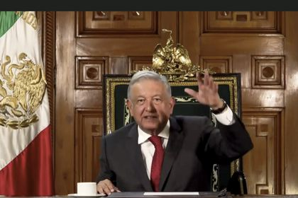 In this image made from UNTV video, Andrés Manuel López Obrador, President of Mexico, speaks in a pre-recorded message which was played during the 75th session of the United Nations General Assembly, Tuesday, Sept. 22, 2020, at UN headquarters. The U.N.'s first virtual meeting of world leaders started Tuesday with pre-recorded speeches from some of the planet's biggest powers, kept at home by the coronavirus pandemic that will likely be a dominant theme at their video gathering this year. (UNTV via AP)