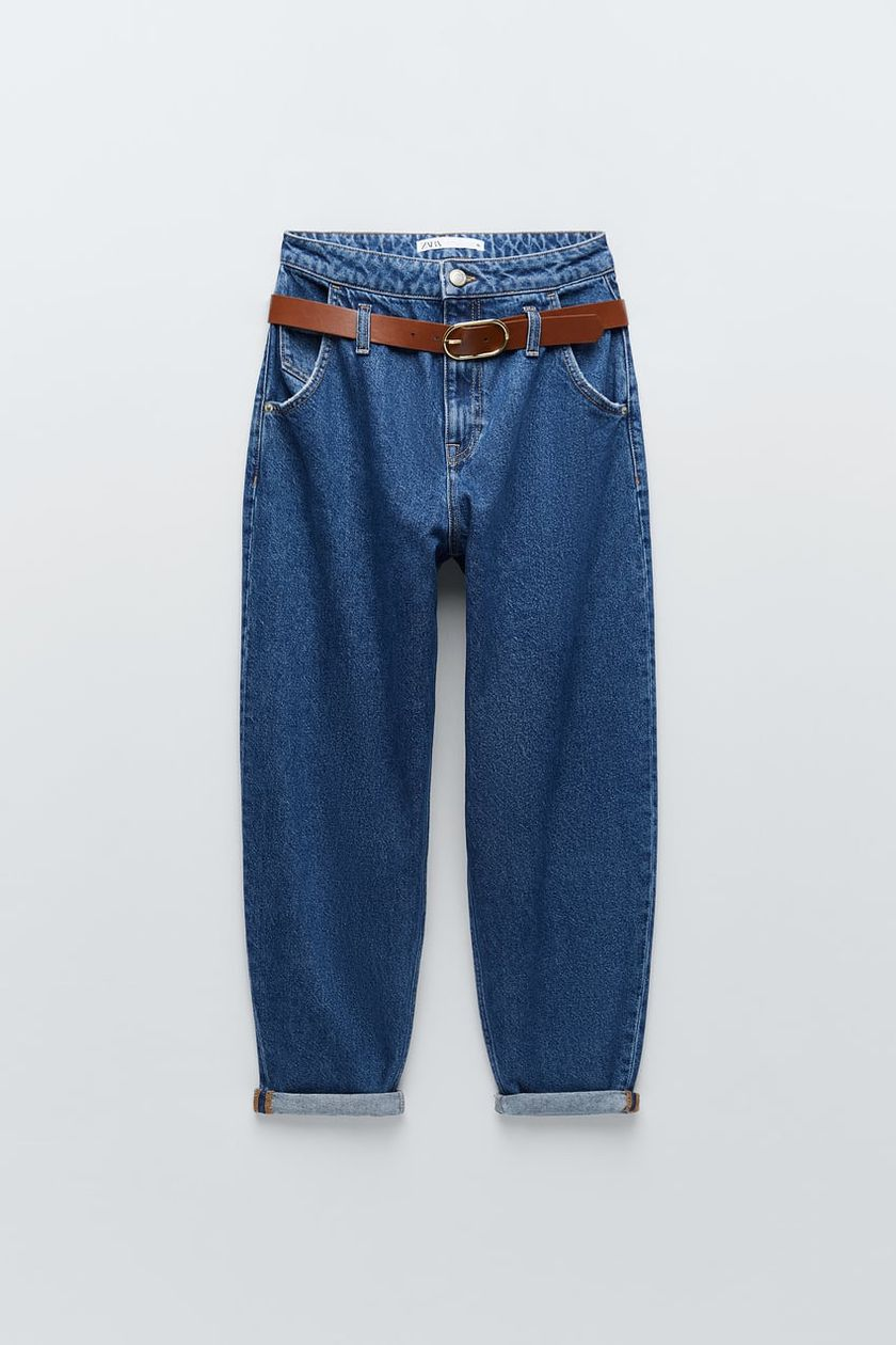 Jeans slouchy.