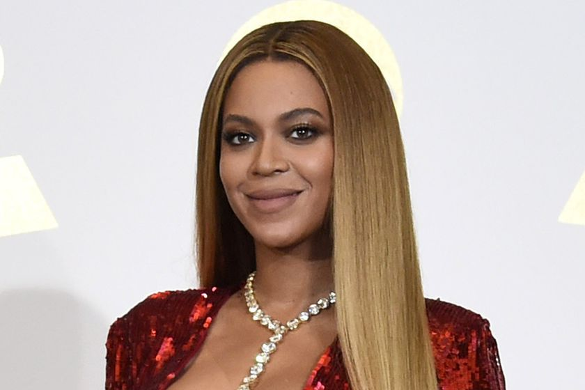 FILE - In this Feb. 12, 2017 file photo, Beyonce poses in the press room at the 59th annual Grammy Awards in Los Angeles. The pop star scored multiple Grammy nominations Tuesday, making her the leading contender with nine nominations. (Photo by Chris Pizzello/Invision/AP, File)