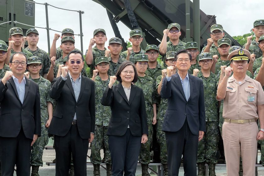 Taiwan president visits missile base amid tension with China