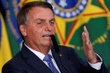 Brazil's President Jair Bolsonaro speaks during the inauguration ceremony of his new chief of staff at the Planalto Palace in Brasilia, Brazil August 4, 2021. REUTERS/Adriano Machado