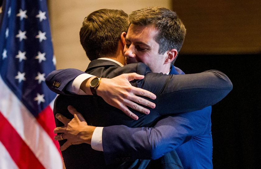 FILE PHOTO: Democratic U.S. presidential candidate Pete Buttigieg announces his withdrawal from the 2020 U.S. presidential race during event in South Bend, Indiana