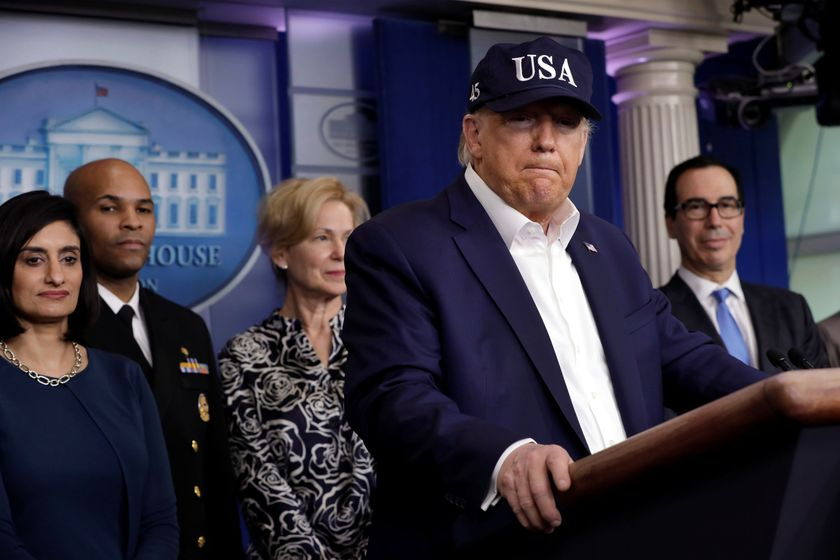 U.S. President Trump with the Coronavirus Task Force hold a press briefing in Washington