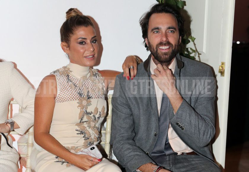 """Elena Tablada and Javier Ungria at photocall of presentation collection of firm """"FernandoClaro"""" in Madrid on Wednesday , 07 november 2018."""