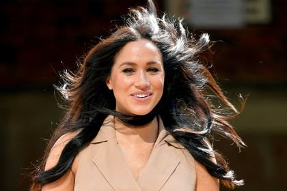 FILE PHOTO: Britain's Meghan Markle, Duchess of Sussex, arrives to meet academics and students during a roundtable discussion on female access to higher education with the Association of Commonwealth Universities, at the University of Johannesburg, Johannesburg, South Africa, October 1, 2019. REUTERS/Toby Melville/File Photo/File Photo