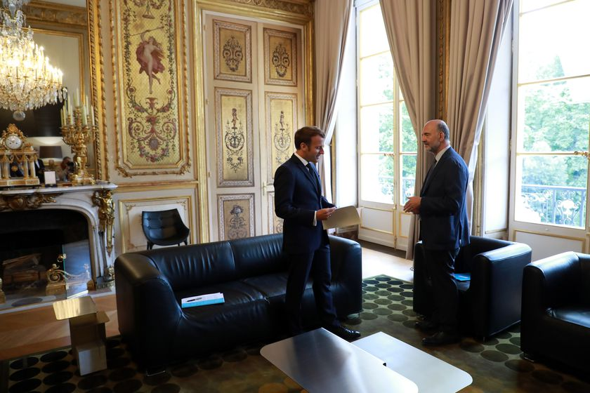 Emmanuel Macron receives the annual report of the Court of Auditors in Paris
