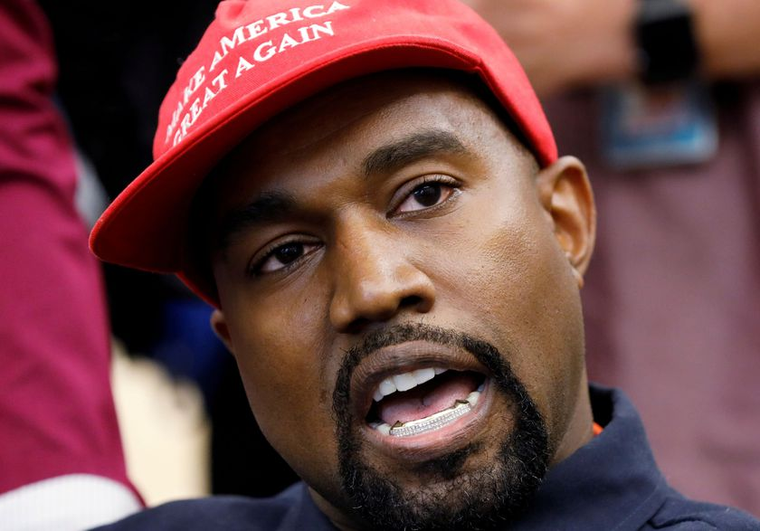FILE PHOTO: Rapper Kanye West speaks during meeting with U.S. President Trump at the White House in Washington