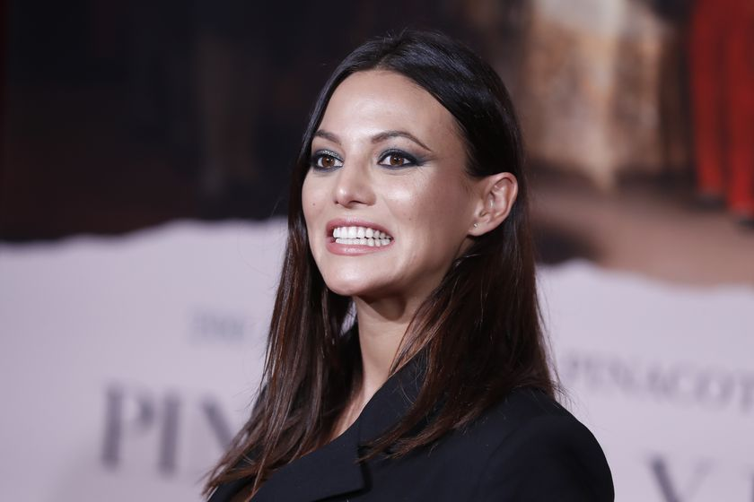 Actress Elisa Mouliaa at photocall for premiere documentary movie of 'Pintores y Reyes del Prado', in Madrid, on Wednesday 04, December 2019