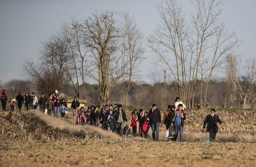 Refugees try to reach Europe